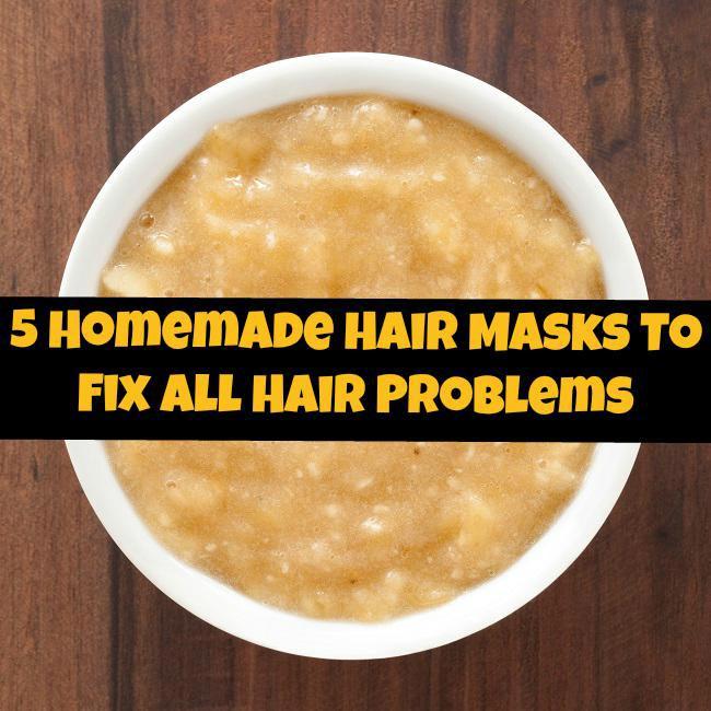 5 Homemade Hair Masks To Fix All Hair Problems
