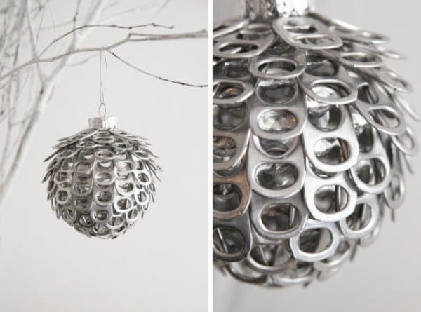 soda can tab xmas ornament