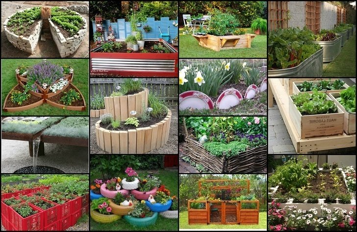 20 unique fun raised garden bed ideas - Planting Beds Design Ideas