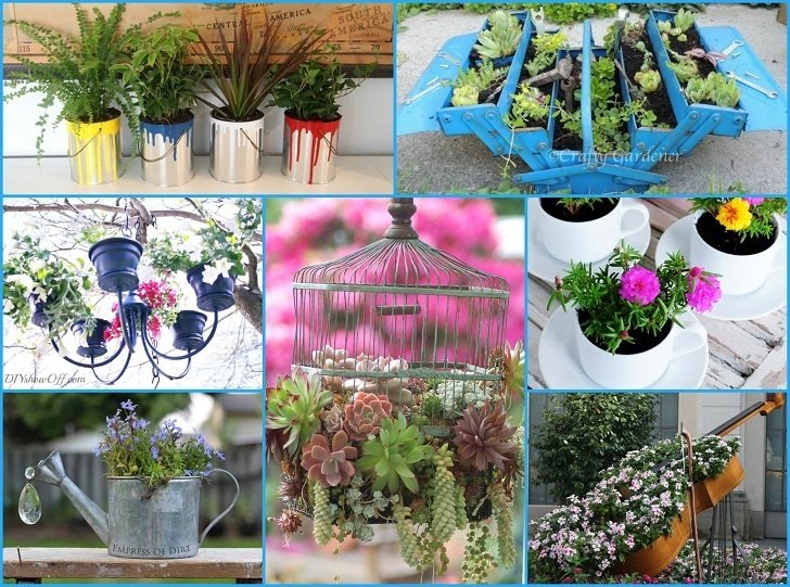 40 unique fun container garden ideas for Interesting garden designs