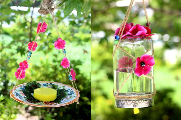 butterfly jar feeder DIY