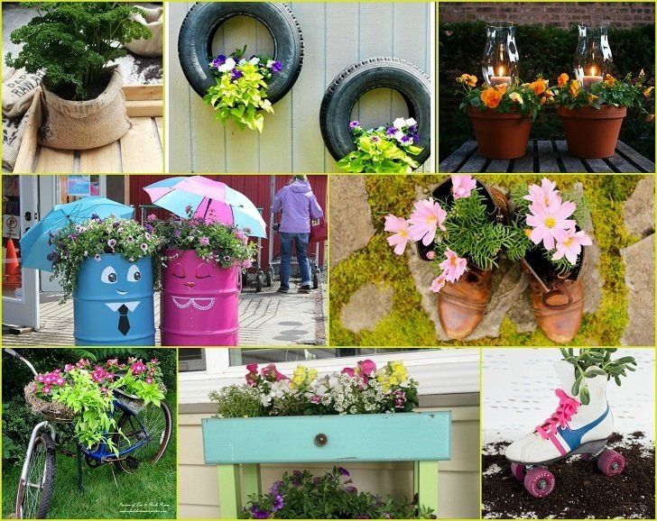 40 Inventive DIY Garden Planters That Will Transform Your Garden on pillow ideas, plaque ideas, outdoor ideas, very cool science project ideas, retaining wall ideas, vase ideas, gardening ideas, truck ideas, white ideas, garden ideas, plate ideas, animal ideas, teapot ideas, lantern ideas, leather ideas, coffee table ideas, plant ideas, stand ideas, pot ideas, bird feeder ideas,