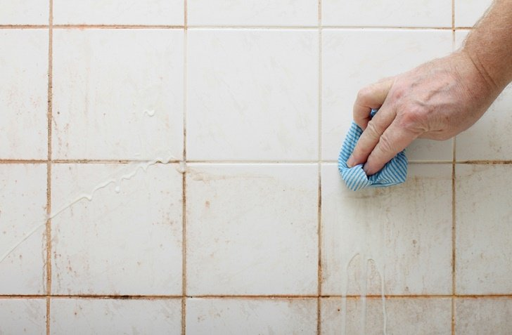 Most Powerful Ways To Clean Tiles Grout Naturally - Best cleaning liquid for bathroom tiles