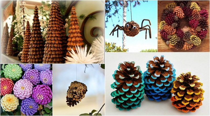Pine cone home decorations