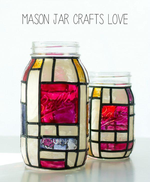 mondrian-mason-jar-stained-glass