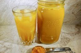 Homemade Turmeric & Ginger Iced Tea for Your Heart, Brain & Cells