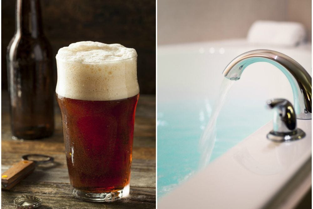 Here's Why You Should Pour A Bottle Of Beer In Your Next Bath