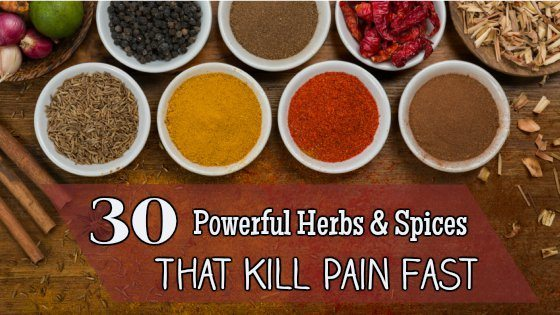 30 Powerful Herbs & Spices That Kill Pain Fast