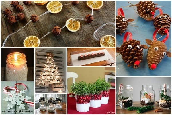 32 homemade eco friendly christmas decorations that look stunning - Christmas Decorations On The Cheap