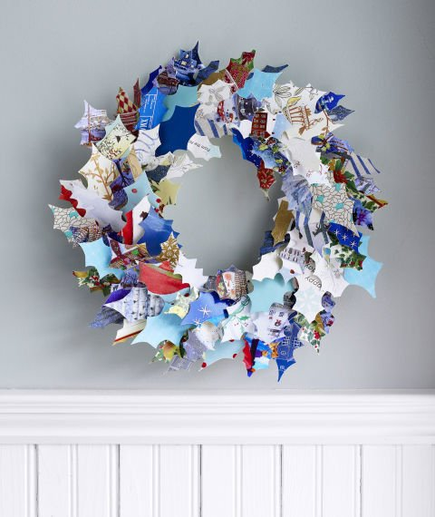recycled wreath