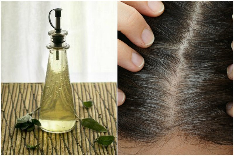 How To Make A Sage Vinegar Rinse To Darken Gray Hairs