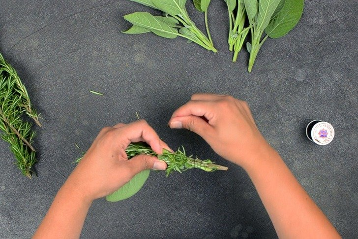 How To Make Rosemary & Sage Smudge Sticks
