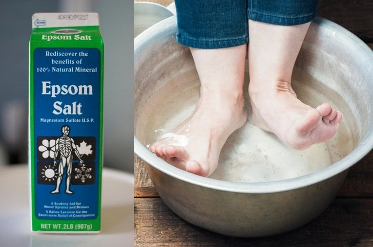 7 Reasons To Soak Your Feet In Epsom Salt + How To Do It
