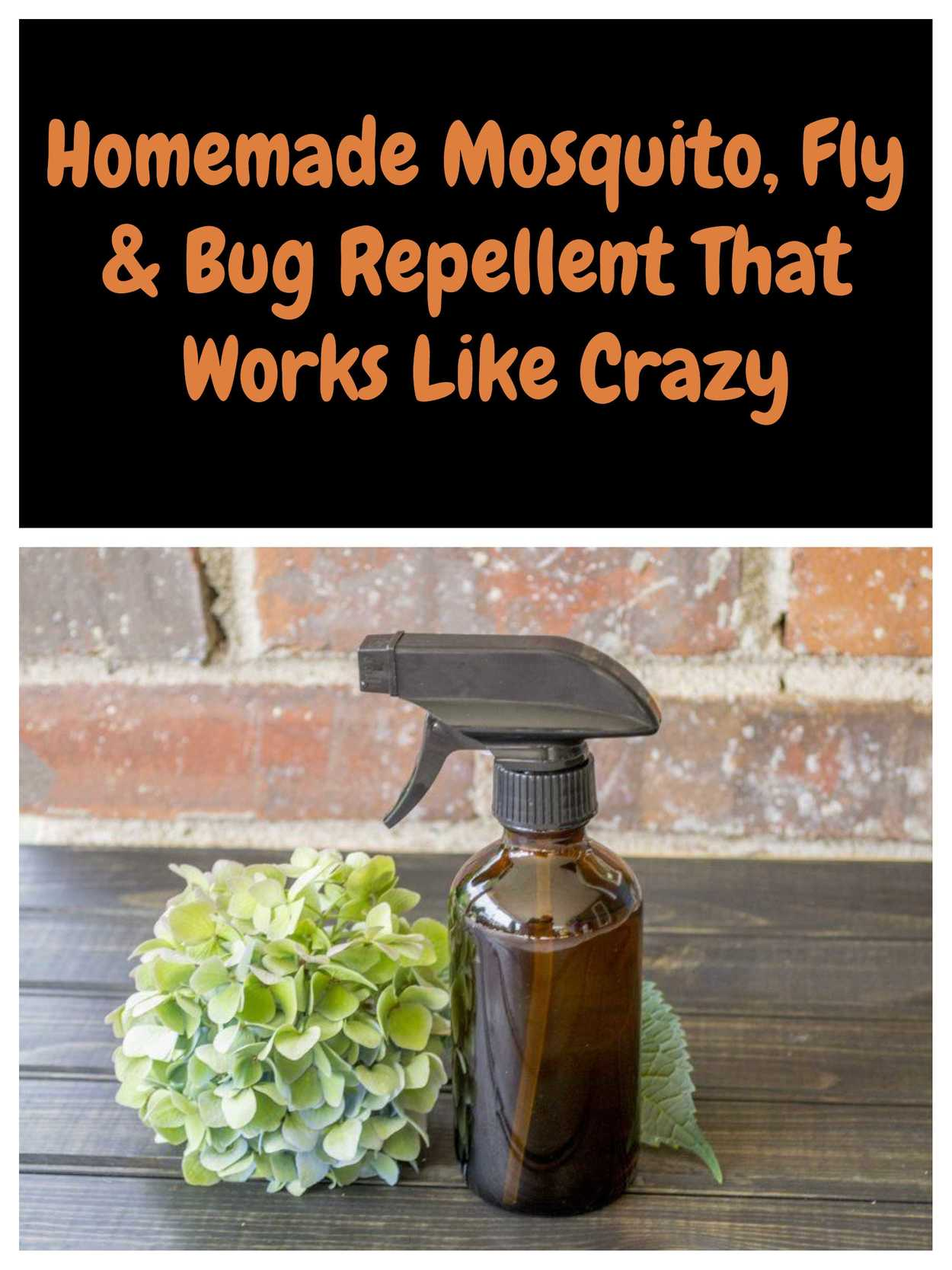 This natural herbal spray will repel mosquitoes, flies and other annoying bugs and stop you