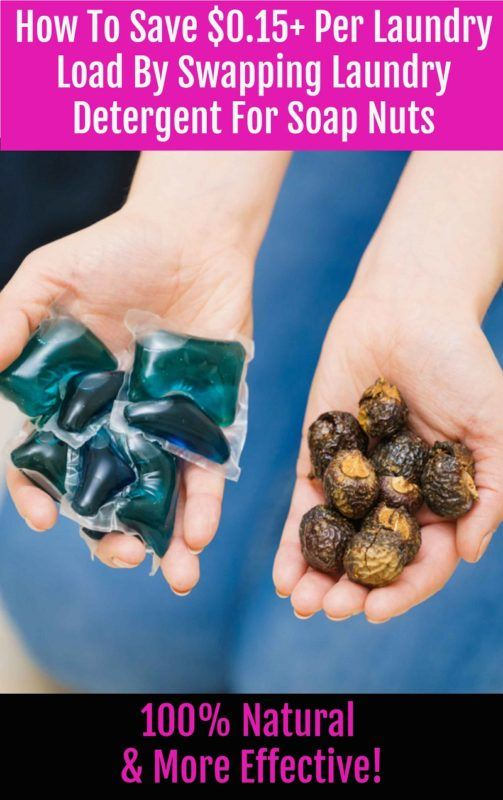 How To Save $0.15+ Per Laundry Load By Swapping Laundry Detergent For Soap Nuts